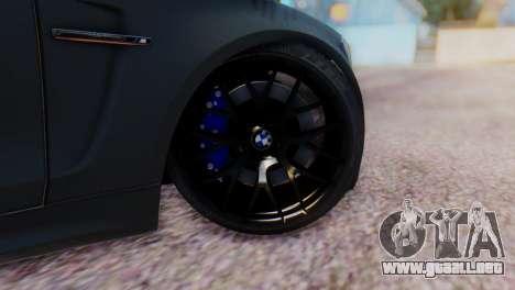 BMW M1 Tuned para GTA San Andreas vista posterior izquierda