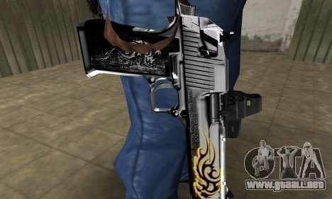 Flame Deagle para GTA San Andreas segunda pantalla