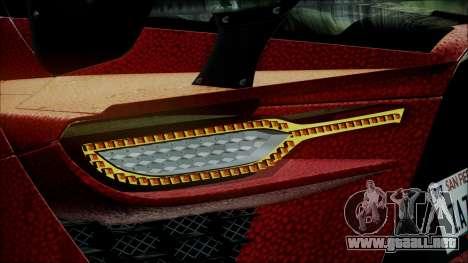 Bertone Mantide 2010 para GTA San Andreas vista hacia atrás