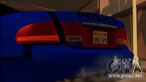 Police HSV VT GTS SA Style para GTA San Andreas vista hacia atrás