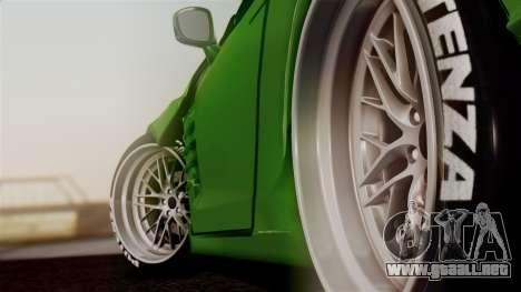 Nissan GT-R R35 Bensopra 2013 para GTA San Andreas vista posterior izquierda