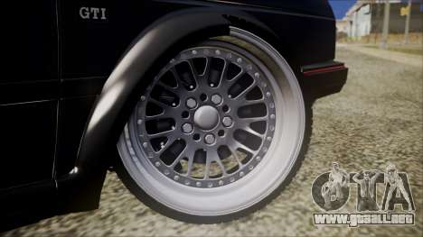 Volkswagen Golf Mk2 para GTA San Andreas vista posterior izquierda