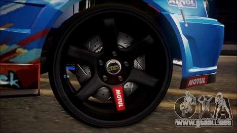 Nissan Skyline ER34 Duck Attack Team para la visión correcta GTA San Andreas