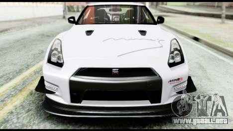 Nissan GT-R R35 2012 para la vista superior GTA San Andreas