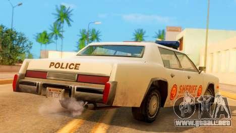 4-door Police Esperanto para GTA San Andreas left