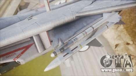 F-14B Bombcat VF-11 Red Rippers para la visión correcta GTA San Andreas