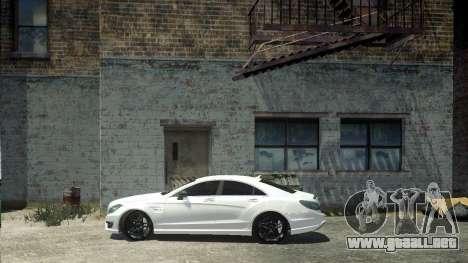 Mercedes-Benz CLS 63 AMG para GTA 4 Vista posterior izquierda