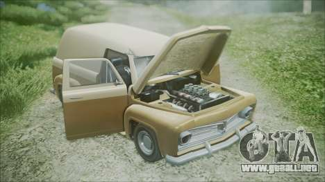 GTA 5 Vapid Slamvan para GTA San Andreas vista hacia atrás