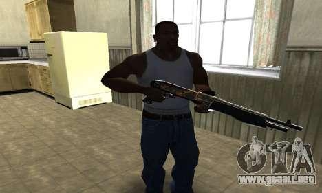 Brighty Yellow Combat Shotgun para GTA San Andreas segunda pantalla