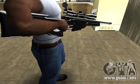 Full Black Sniper Rifle para GTA San Andreas