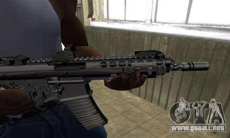 Full Black Automatic Gun para GTA San Andreas segunda pantalla