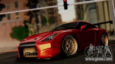 Nissan GT-R R35 Bensopra 2013 para la vista superior GTA San Andreas