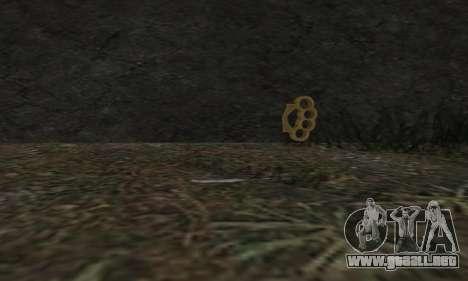 Knuckledusters from GTA 5 para GTA San Andreas segunda pantalla