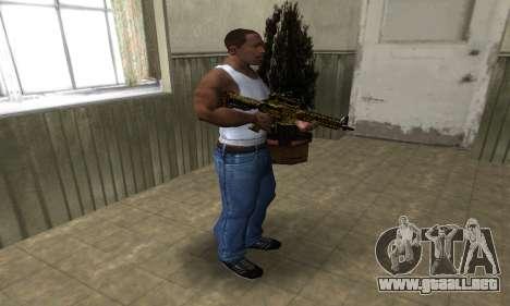 Yellow Jungle M4 para GTA San Andreas tercera pantalla