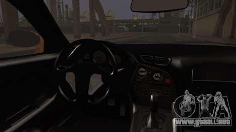 Mazda RX-7 Veilside para GTA San Andreas vista posterior izquierda