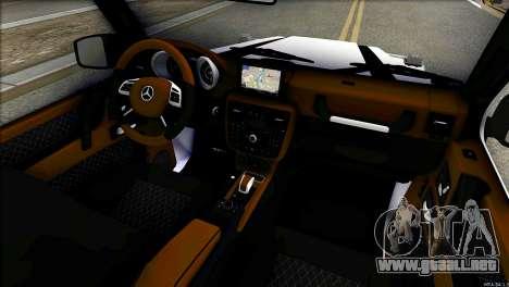 Mercedes-Benz G65 Hamann 2013 para GTA San Andreas vista hacia atrás