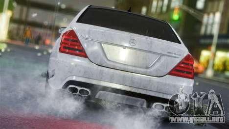 Mercedes-Benz S65 AMG Vossen para GTA 4 Vista posterior izquierda