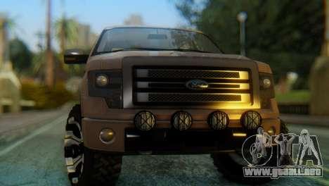 Ford F-150 2013 Work Hard para la visión correcta GTA San Andreas