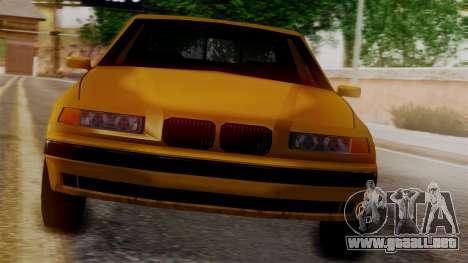 BMW M3 E36 SA Style para GTA San Andreas vista posterior izquierda