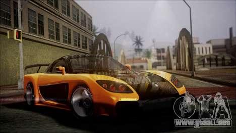 Mazda RX-7 Veilside para la visión correcta GTA San Andreas