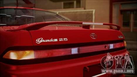 Toyota Mark II X90 para GTA San Andreas vista hacia atrás