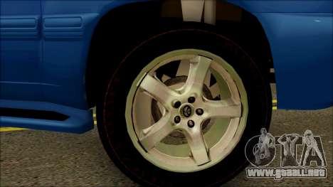 Toyota Land Cruiser 100 UAE Edition para la visión correcta GTA San Andreas