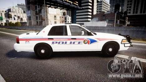 Ford Crown Victoria Bohan Police [ELS] WL para GTA 4 left