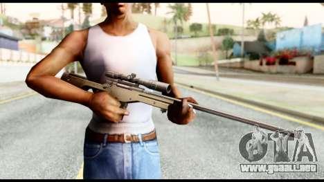 AWM L115A1 para GTA San Andreas tercera pantalla