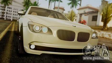 BMW 7 Series F02 2012 para visión interna GTA San Andreas