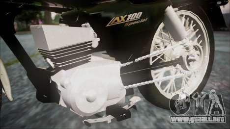 Suzuki AX 100 para la visión correcta GTA San Andreas