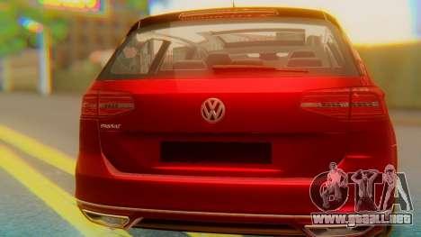 Volkswagen Passat Variant R-Line para visión interna GTA San Andreas