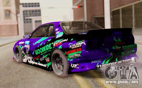 Nissan Skyline R32 para GTA San Andreas left