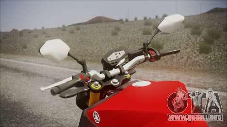 Yamaha MT-09 para la visión correcta GTA San Andreas