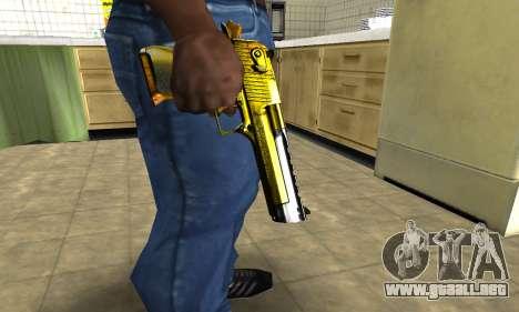 Yellow Deagle para GTA San Andreas segunda pantalla