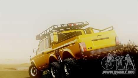 VAZ 2121 Niva 6x6 para GTA San Andreas vista posterior izquierda