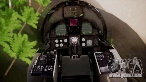 F-15S MTD Grabacr (8492nd) Ace Combat 5 para GTA San Andreas vista hacia atrás