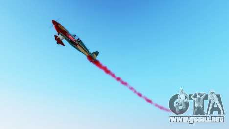 El humo de los aviones v1.2 para GTA 5