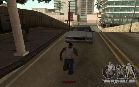 SprintBar para GTA San Andreas sucesivamente de pantalla