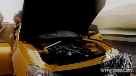 Toyota GT86 PJ para GTA San Andreas vista hacia atrás