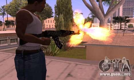 AK-47 Rebelde para GTA San Andreas segunda pantalla