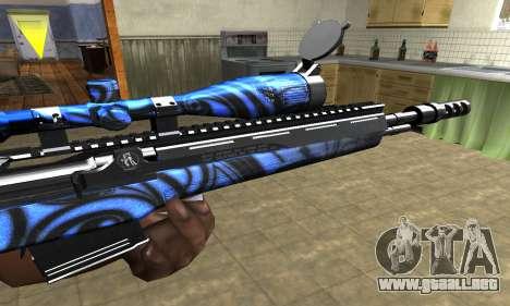 Blue Limers Sniper Rifle para GTA San Andreas segunda pantalla