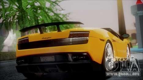 Lamborghini Gallardo LP570-4 Spyder 2012 para GTA San Andreas left