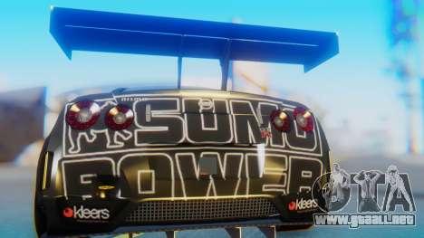 Nissan GT-R GT1 Sumo para GTA San Andreas vista hacia atrás