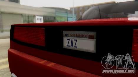 Infernus BMW Revolution with Plate para la visión correcta GTA San Andreas