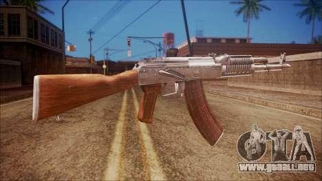 AK-47 v5 from Battlefield Hardline para GTA San Andreas segunda pantalla