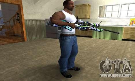 Marcken Sniper Rifle para GTA San Andreas tercera pantalla