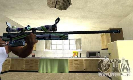 Marcken Sniper Rifle para GTA San Andreas segunda pantalla
