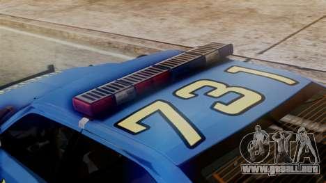 Hunter Citizen from Burnout Paradise SAPD para GTA San Andreas vista hacia atrás