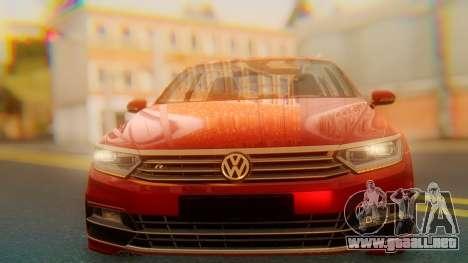 Volkswagen Passat Variant R-Line para GTA San Andreas vista hacia atrás