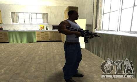 Full Black Automatic Gun para GTA San Andreas tercera pantalla
